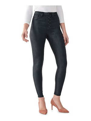 DL 1961 Chrissy Coated Ankle Ultra High Rise Skinny Jeans