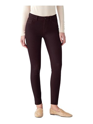 DL 1961 Florence Coated Mid-Rise Ankle Skinny Jeans