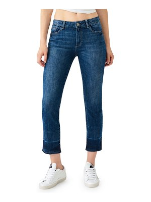 DL 1961 Mara Ankle Mid-Rise Straight Jeans w/ Released Hem