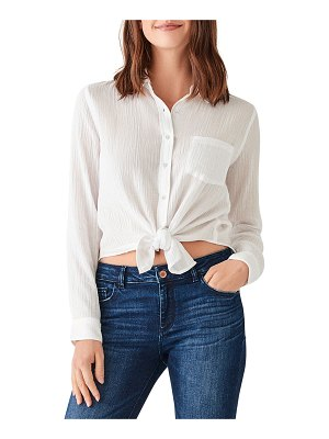DL 1961 Mercer & Spring Crinkle Button-Down Top