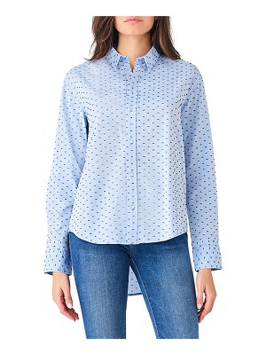 DL 1961 Metropolitan Ave Dotted Button-Down Long-Sleeve Shirt