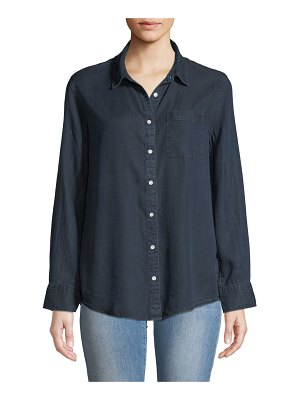 DL 1961 Nassau & Manhattan Lace-Up Button-Front Shirt