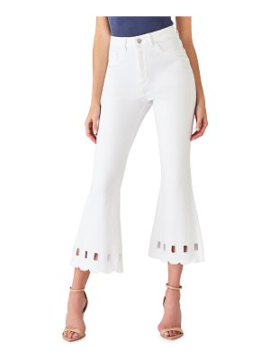 DL 1961 Wallace High-Rise Vintage Crop Flare Jeans