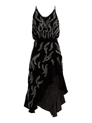 Dodo Bar Or agnes bead embellished velvet dress