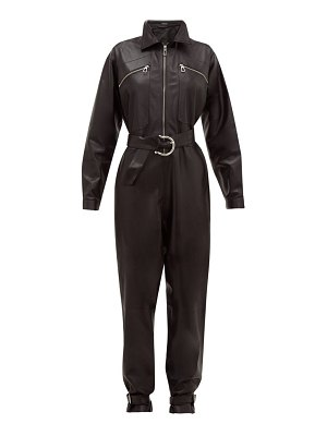 Dodo Bar Or barbara zipped leather jumpsuit