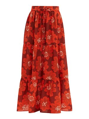 Dodo Bar Or batia floral print cotton poplin maxi skirt
