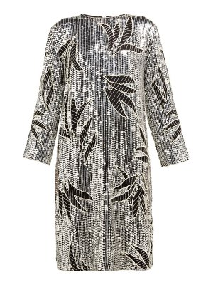 Dodo Bar Or clara floral sequinned and beaded shift dress