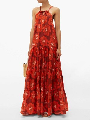 Dodo Bar Or dorothy tiered floral print cotton maxi dress