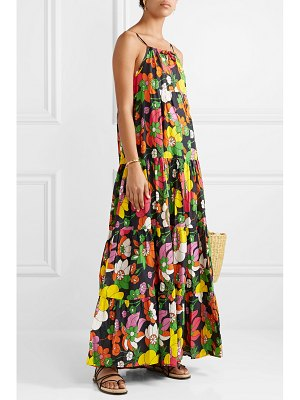 Dodo Bar Or dorothy tiered floral-print cotton-voile maxi dress