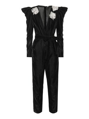 Dodo Bar Or Embellished velvet jumpsuit