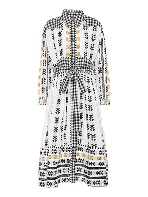 Dodo Bar Or embroidered cotton midi dress