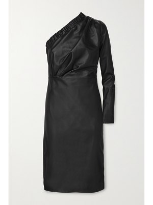 Dodo Bar Or gorgiee one-shoulder ruched leather dress