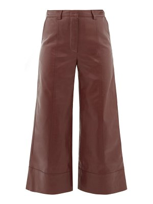 Dodo Bar Or magen leather wide-leg trousers