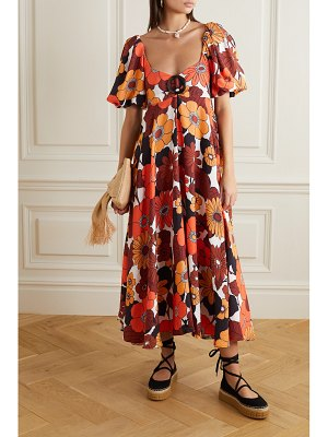 Dodo Bar Or mor floral-print woven midi dress
