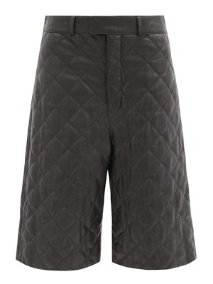 Dodo Bar Or ossi quilted-leather wide-leg shorts