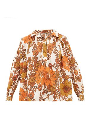 Dodo Bar Or valerie floral-print cotton blouse