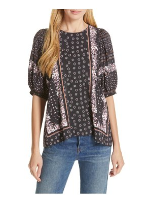Dolan mixed print top