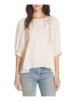 Dolan nicole embroidered top