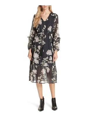 Dolan ruffled floral midi dress