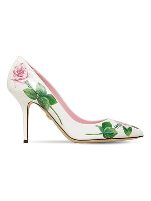 Dolce & Gabbana 90mm printed leather pumps