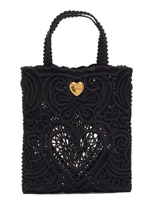 Dolce & Gabbana beatrice small cordonetto-lace tote bag