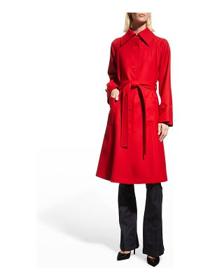 Dolce & Gabbana Belted Single-Breasted Wool Coat