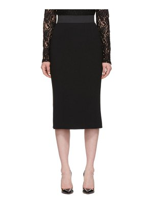 Dolce & Gabbana black cady pencil skirt