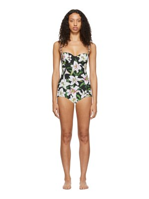 Dolce & Gabbana black lillium balconette one-piece swimsuit