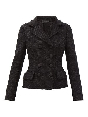 Dolce & Gabbana bouclé-tweed double-breasted jacket