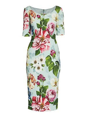 Dolce & Gabbana cady floral-print sheath dress