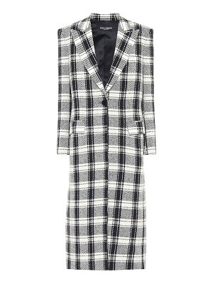 Dolce & Gabbana checked wool-blend coat
