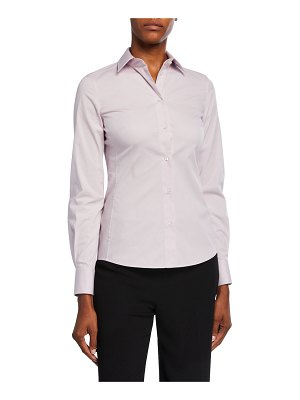 Dolce & Gabbana Classic Button-Front Long-Sleeve Blouse