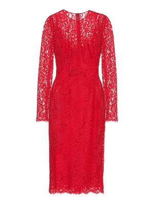 Dolce & Gabbana Cotton-blend lace midi dress