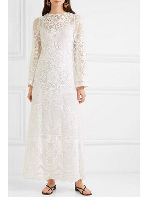 Dolce & Gabbana crocheted cotton-blend lace maxi dress