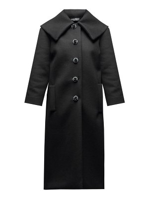 Dolce & Gabbana crystal button single breasted wool coat