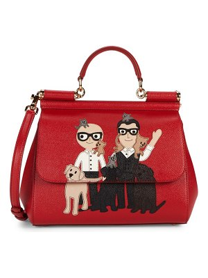 Dolce & Gabbana D & G Family-Print Leather Satchel