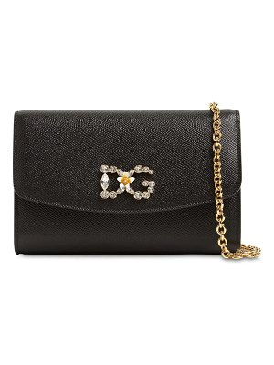 Dolce & Gabbana Dauphine embossed leather bag