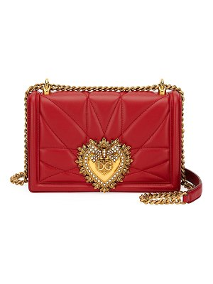 Dolce & Gabbana Devotion Large Quilted Crossbody Bag