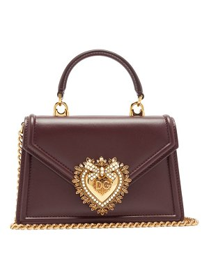 Dolce & Gabbana devotion leather cross-body bag