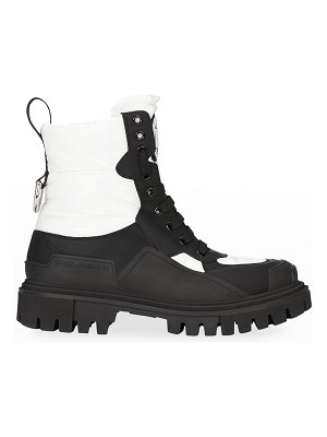 Dolce & Gabbana Donna Quilted Hiker Boots