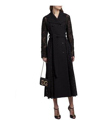 Dolce & Gabbana Double-Breasted Lace Coat