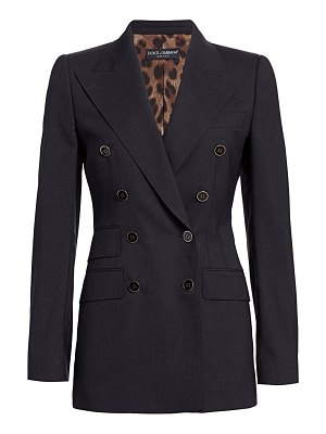 Dolce & Gabbana double-breasted stretch-wool fitted jacket