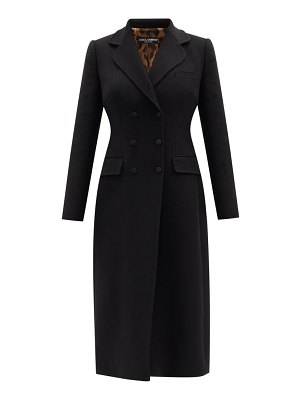 Dolce & Gabbana double-breasted wool-crepe coat