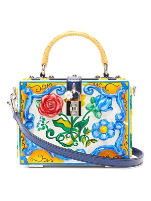 Dolce & Gabbana embossed floral-painted box bag