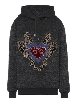 Dolce & Gabbana embroidered cotton-blend hoodie