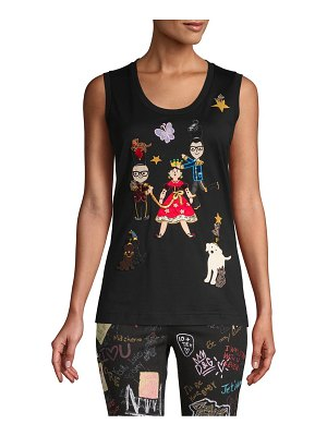 Dolce & Gabbana Embroidered Cotton-Blend Tank Top