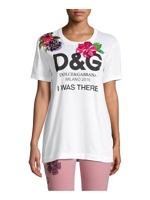 Dolce & Gabbana Embroidered & Graphic Cotton Tee