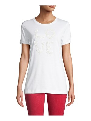 Dolce & Gabbana Embroidered Stretch Tee