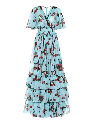 Dolce & Gabbana exclusive to mytheresa – cherry printed silk gown