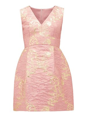 Dolce & Gabbana floral-brocade mini dress